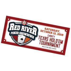 1 Red River Poker Showdown ticket