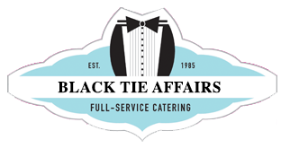 Black Tie Affairs Full-Service catering logo